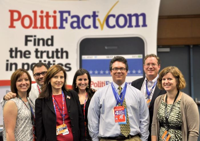 PolitiFact team at the 2012 Republican National Convention in Tampa, Fla.